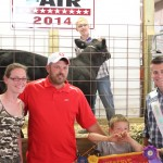 Larry and Leora Kotnik, of Kotnik Farms, paid $5.50 a pound for Brandon Teter's 526-pound reserve champion and best of show beef feeder.