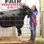 Deanna Comp's 978-pound reserve best of show dairy steer received a $2 a pound bid from the law office of Katherine Riedel, who was not in attendance at the fair.