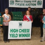 Brooke George had the champion cheese yield. Sandy Lake Mills bought her cheese.