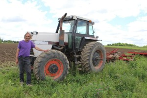 Moore with tractor
