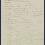 First page of a list of code words created by Warren G. Harding in 1912.