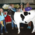 Emma Egli won junior showmanship honors in the dairy beef feeder class.