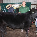 Mackenzie Kiko's 1,295-pound grand champion steer sold for $6.50 a pound to Paris Washington Insurance, represented by Kelly Palmer.