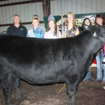 Kyla Sharp sold her 1,278-pound reserve champion steer for $5.60 a pound to Mac Trailer. Sharp was also the Outstanding Youth Project grand champion.