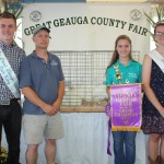 Meghan O'Reilly's grand champion pen of chickens weighing 32.70 pounds sold for $55 a pound to Geauga Feed and Grain, represented by Kevin O'Reilly.