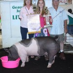 Ray and Bonnie Townsend paid $9 a pound for Sydney Spitler's 272-pound reserve champion hog.