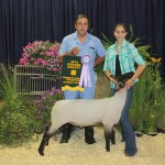David Medic DVM paid $7.25 a pound for Kaley Scott's 135-pound reserve champion market lamb.
