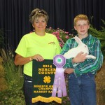 Brennan McTighe raised the reserve champion meat rabbit, which sold for $65 to Advanced Contracting, represented by Teri Wagler.