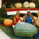 Kathy and Ron Moffett in 1991 with a 544 pounder.