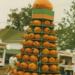 The pumpkin tower at the Canfield Fair.